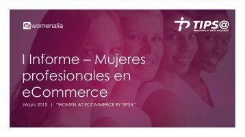 I Informe – Mujeres profesionales en eCommerce