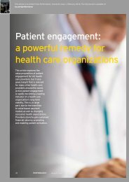 Patient engagement a powerful remedy for health care organizations