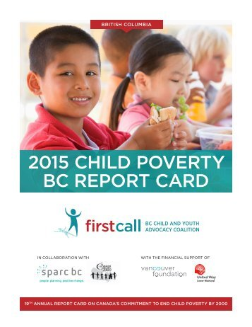 2015 CHILD POVERTY BC REPORT CARD