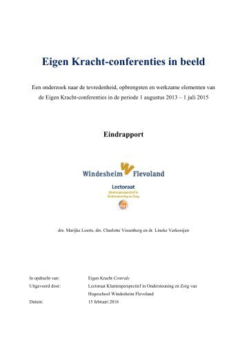 Eigen Kracht-conferenties in beeld