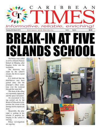 Caribbean Times 64th issue - Tuesday 8th March 2016