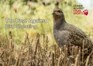 The Case Against Bird Shooting