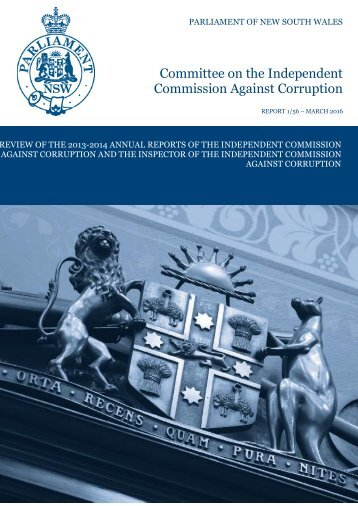 Committee on the Independent Commission Against Corruption
