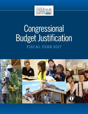 Congressional Budget Justification