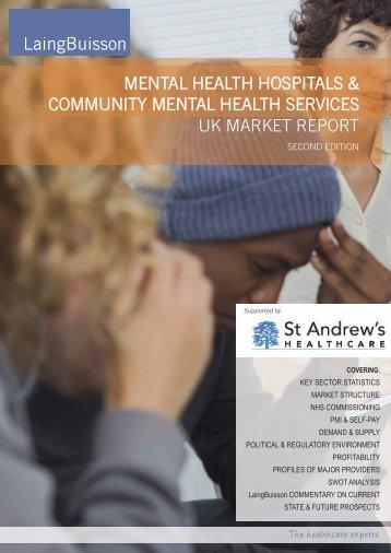 MENTAL HEALTH HOSPITALS & COMMUNITY MENTAL HEALTH SERVICES UK MARKET REPORT