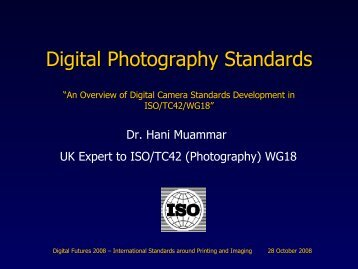 Digital Photography Standards - RPS Imaging Science Group