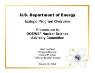 U.S. Department of Energy Isotope Program Overview