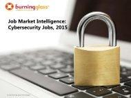 Job Market Intelligence Cybersecurity Jobs 2015