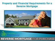 Property and Financial Requirements for a Reverse Mortgage - Z Reverse Mortgage
