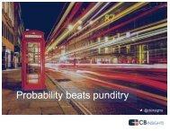 Probability beats punditry