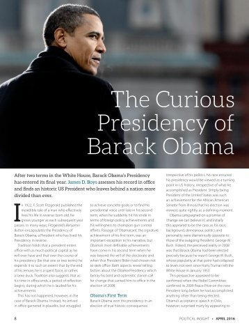 The Curious Presidency of Barack Obama