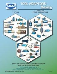 TOOL ADAPTORS CataIog - Production Control Units, Inc.