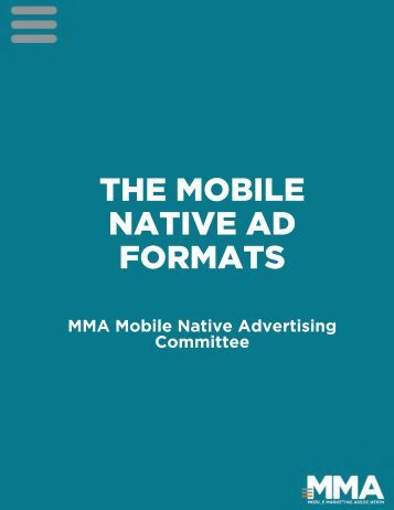 THE MOBILE NATIVE AD FORMATS