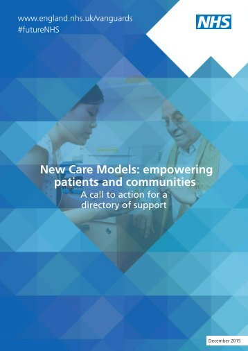 New Care Models empowering patients and communities