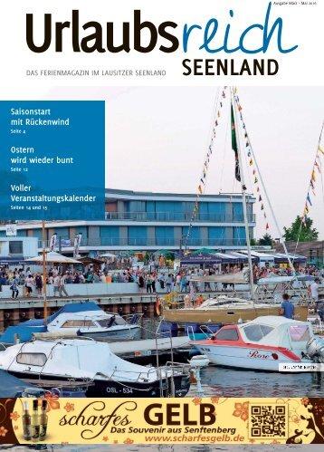 Ferienmagazin Urlausbreich Seenland, Ausgabe Frühjahr 2016