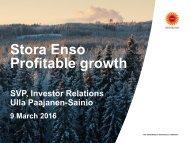 Stora Enso Profitable growth