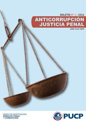 Boletín Anticorrupción y Justicia Penal. Mes: Enero. IDEHPUCP