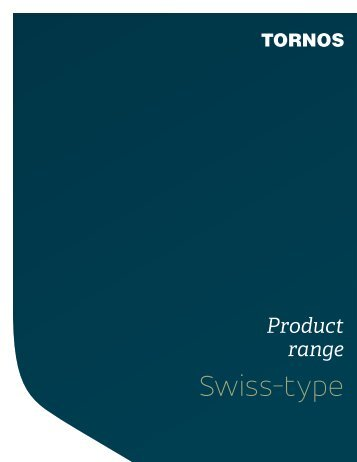Product range Swiss-type