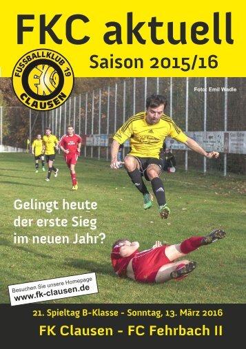 FKC Aktuell - 21. Spieltag - Saison 2015/2016
