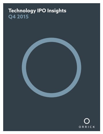 Technology IPO Insights Q4 2015