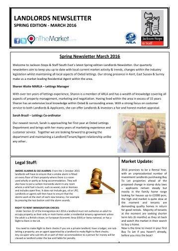 Spring Newsletter March 2016