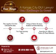 Four Things A Kansas City DUI Lawyer Can Challenge In Court