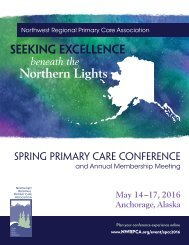 2016 Spring Primary Care Conference Brochure
