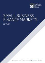 SMALL BUSINESS FINANCE MARKETS