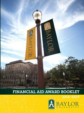 FINANCIAL AID AWARD BOOKLET