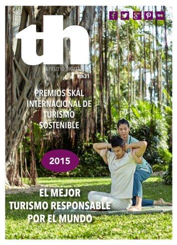 Turismo Humano 31. Premios internacionales de Turismo Sostenible