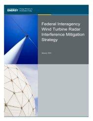 Federal Interagency Wind Turbine Radar Interference Mitigation Strategy