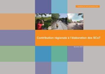 Contribution régionale à l'élaboration des SCoT