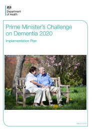 Prime Minister's Challenge on Dementia 2020