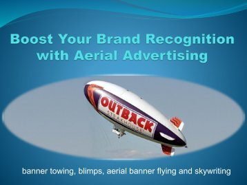 Boost Your Brand Recognition with Aerial Advertising
