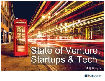 State of Venture Startups & Tech