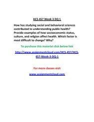 UOP HCS 457 Week 3 DQ 1