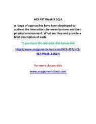 UOP HCS 457 Week 3 DQ 4