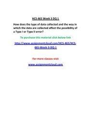 UOP HCS 465 Week 3 DQ 1