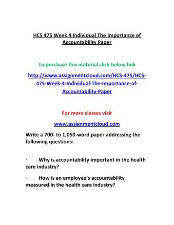 hcs 335 week 4 administrative ethics paper • format your paper consistent with apa guidelines week 4 individual assignment: administrative ethics paper  hcs 335 all assignments and dqs /complete course.