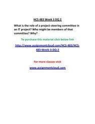 UOP HCS 483 Week 3 DQ 2