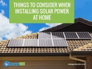 Things to Consider When Installing Solar Panel