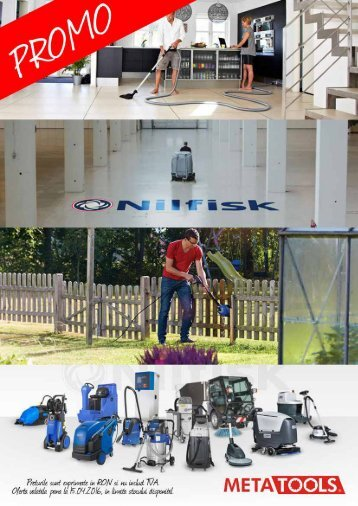Promotie echipamente curatenie NILFISK