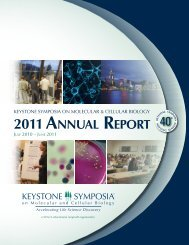 2011 by the numbers - Keystone Symposia