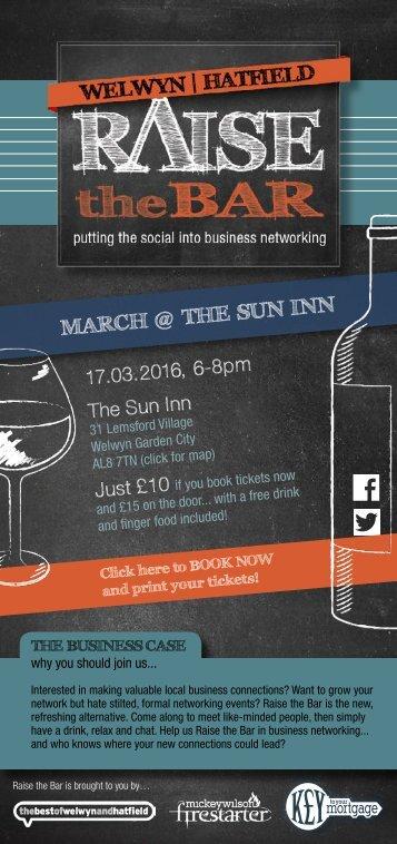 Raise the Bar invite - March