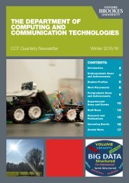 THE DEPARTMENT OF COMPUTING AND COMMUNICATION TECHNOLOGIES