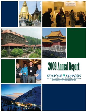 Download the 2009 Annual Report - Keystone Symposia
