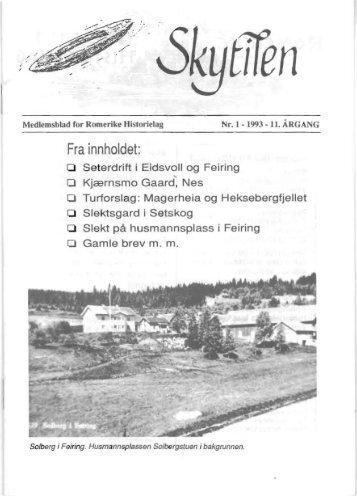 1993 Skytil nr. 1