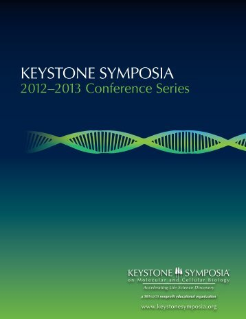 Click here to download a PDF of our - Keystone Symposia