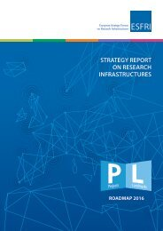 STRATEGY REPORT ON RESEARCH INFRASTRUCTURES
