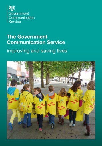 The Government Communication Service improving and saving lives